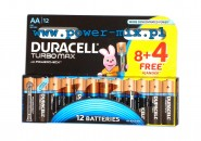 Duracell Turbo Max with Powercheck LR6 12 sztuk